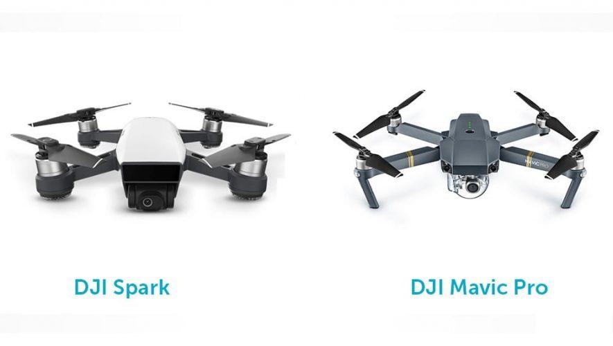Σύγκριση DJI Spark vs Mavic Pro | DroneBlog
